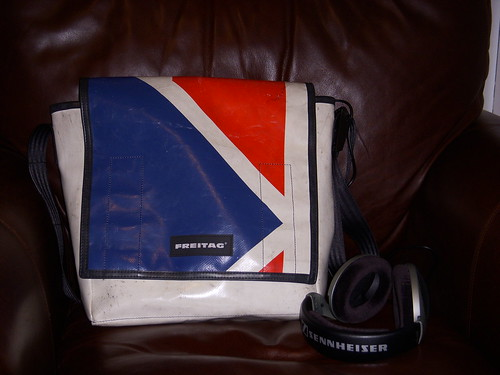 Freitag DJ bag and new headphones