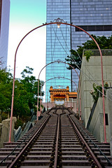 Angels Flight (Candice, AKA Bessie Smith) Tags: street buildings losangeles downtown railway landmark hdr funicular angelsflight hillstreet