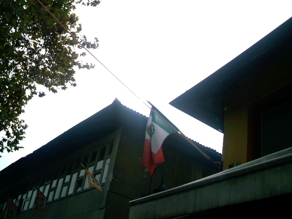 A better view of the Mexican Flag on 'Hacienda'