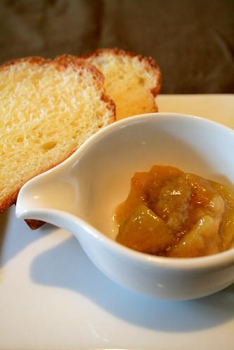 guava pine jam, clam chowder, dinnersetup 008