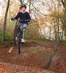 Dunsmore Bike Jumps - Nov 2007 (Peter J Dean) Tags: nick dmr dunsmore