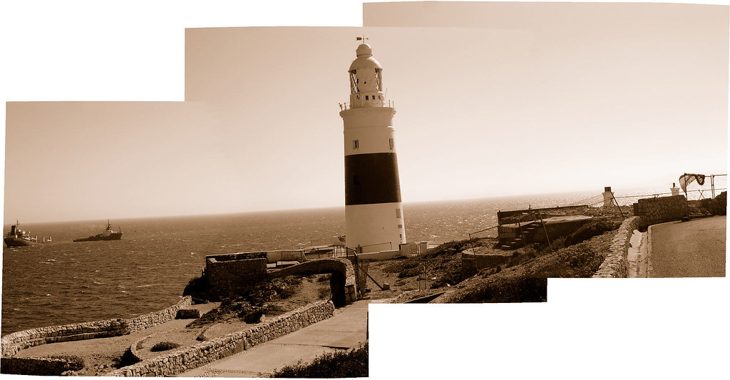 Gibraltar - lighthouse panorama