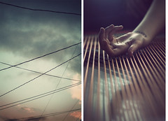 Wrapped in Piano Strings (Allegra Villella) Tags: sky hand naturallight day8 pianostrings avphotography radicalface