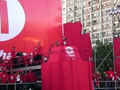 Chávez en la tribuna