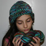 Little Turtle Knits + Elliebelly: Geranium Yarn + Rushty! Pattern = One Perfect Hat!
