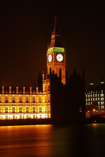 Houses of Parliament at Night 03