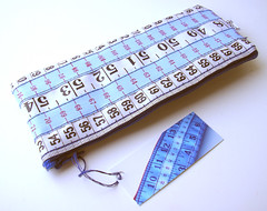 Blue, Red and White Measuring Tape Case
