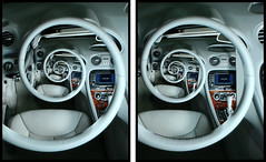 3Droste Steering Wheel (neil.nathanson) Tags: stereoscopic 3d interior mercedesbenz recursive escher droste slclass crossview sl550