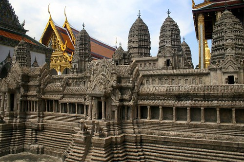 A large model of Angkor Wat