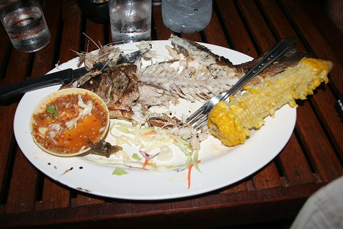 bbq red snapper - demolished!