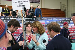 Bay Buchanan, spinning for Romney