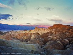 Zabriskie Point - The Film Version (Michael Pancier Photography) Tags: california sunrise mediumformat desert deathvalley zabriskiepoint nationalparks fineartphotography naturephotography seor deathvalleynationalpark filmlives fujiprovia100f mamiya7ii naturephotographer floridaphotographer michaelpancier michaelpancierphotography diamondclassphotographer itwascoldwhenishotthis itiscoldinthedesertinwinter wwwmichaelpancierphotographycom seorcohiba