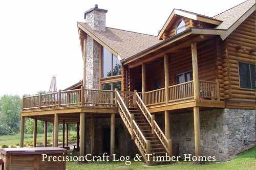 By PrecisionCraft Log & Timber Homes | Located in Pennsylvania | Custom Log Home Design
