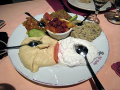 Mixed cold appetizer platter (large), Ali Baba Turkish Cuisine