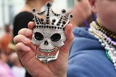 2008 Mardi Gras, New Orleans (G. J. Charlet III) Tags: skull louisiana neworleans parade nola bling mardigras mardi