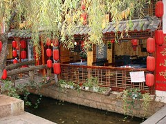Old Town Restaurants (Quiltsalad) Tags: china travel blue asia earth lijiang asoa vftw earthasia