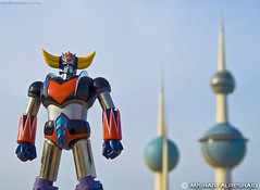 Grendizer & Kuwait Towers - Part I (Mishari Al-Reshaid Photography) Tags: blue red sky anime photoshop canon toys eos cool gonagai kuwait collectible 1855 digitalrebel canoneos goldorak bandai q8 goldrake grendizer artphoto gtm canonefs1855 dizer kuwaittowers chogokin backgroundblur funwithtoys q80 canonllens superrobot japaneseanime xti japaneserobot 400d eos400d canoneos400d digitalrebelxti canon400d canonef24105f4lis aplusphoto kuwaitphoto kuwaitphotos uforobogrendizer toyphotos kvwc excapture kuwaitartphoto gtmq8 kuwaitart kuwaitvoluntaryworkcenter kuwaitvwc grendizer99 kuwaitphotography grendizer99photos toysinkuwait grendizerandkuwaittowers supergrendizershot grendizerphotos grendizerdiecastfigure soulofchogokingrendizer closeuptoyshots grendizercloseup grendizerwillsaveusfromoverpricing japaneseheroes gonagairobots superrobotgrendizer ilovegrendizer kuwaittoys socgrendizer closeuptoys grendizerrules bandaisoulofchogokin