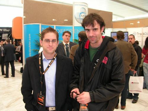 Lino Uruñuela y yo en el OME 2008