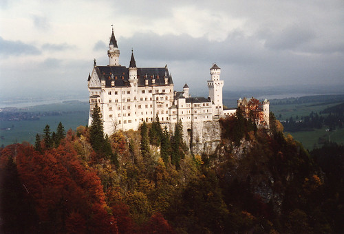 neuschwanstein castle schloss fall colors by mbell1975.