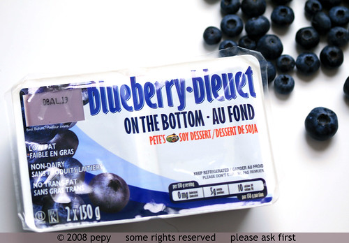 Blueberry Soy Dessert Packaging