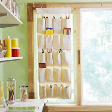 Craft Storage Curtain by Heath & the B.L.T. boys.