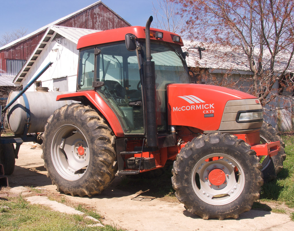 The new McCormick tractor.