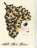Hello Bird Brain - Blank Greeting Card (ms_mod) Tags: birthday roses bird art collage vintage print design spring graphic head antique victorian dream mother surreal gear brain queen ephemera card etsy greetingcard occasion mothersday steampunk dollface dollfacedesign