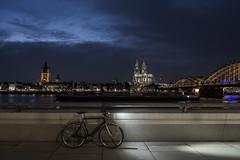 Bike lights (lars_uhlig) Tags: 2017 deutschland germany köln cologne deutz rheinland dom kölner cathedral night nacht lights licht lampe fahrrad bicycle schindelhauer ludwig
