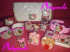 Bling Bling Deco Collection!!! (Pinky Anela) Tags: japanese hellokitty decoration blingbling sanrio kawaii deco gems