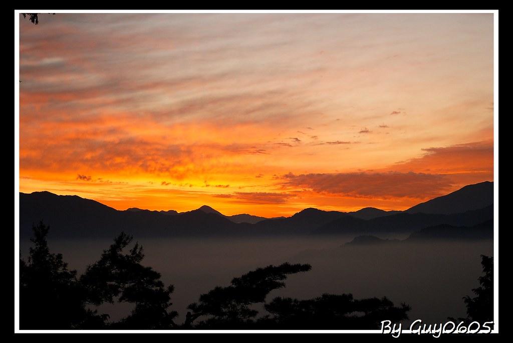 夢裡的日出。阿里山
