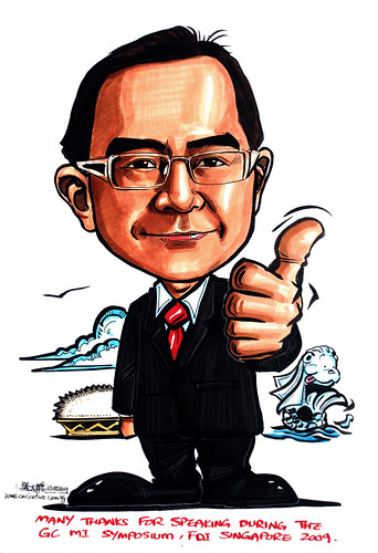 Caricature for GC Asia Dental - 5