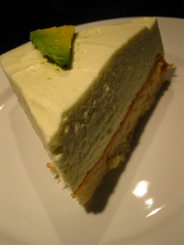 Cheesecake with avocado