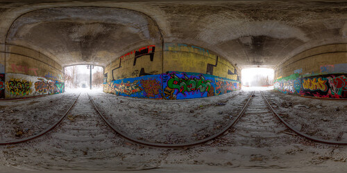 Under the overpass! - Equirectangular Panorama in Quebec City