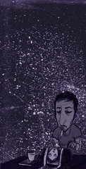 night tales (puntonegro) Tags: shadow portrait 3 black digital painting death skull grey fight acrylic drawing retrato negro parrot sombra dessin ombre muerte geisha samurai revolver dibujo kuro struggle ilustracion indigenous amazonas espacio harakiri indigena kachina gravure clavera puntonegro soultrade