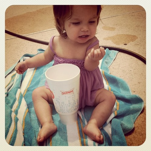 Sonic drink. A must on sunny pool days.