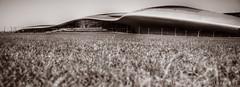 Open Wings - Ferrari World Abu Dhabi (rostcliff) Tags: world park bw sun white black hot grass sepia canon fun mark ferrari ii theme 5d abu dhabi