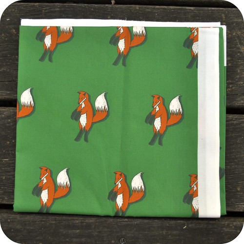 Green Fox Fabric
