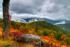 Cloudy View to the East - Shenandoah National Park (Dwood Photography) Tags: park autumn trees fall leaves clouds october view cloudy east national shenandoah 2007 shenandoahnationalpark supershot mywinners abigfave diamondclassphotographer flickrdiamond appalachianblueridgeforests dwoodphotography dwoodphotographycom