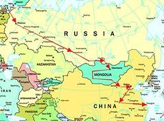 Mapa con el recorrido del Transiberiano (josemiguel_80) Tags: