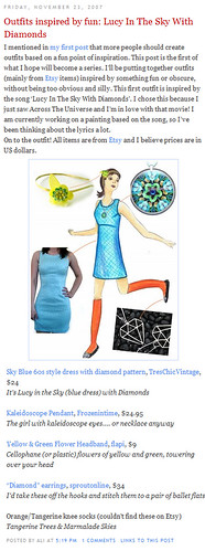 Outfits inspired by fun: Lucy In The Sky With Diamonds