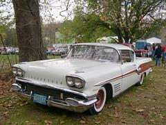 1958 Pontiac Bonneville (Peachhead (5,000,000 views!)) Tags: original gm antiquecar chrome 1958 pontiac bonneville carshow antiqueauto riegelsvillepa