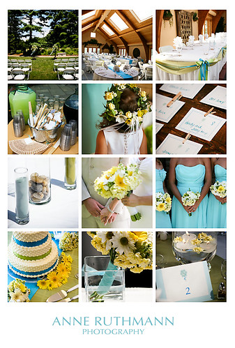Teal Green Yellow Wedding Detail Inspiration Board Anne Ruthmann