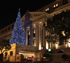 Christmas on Nob Hill #3 (A Sutanto) Tags: sf sanfrancisco california christmas ca city urban usa architecture night america buildings lights nobhill