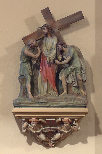 Saint Augustine Roman Catholic Church, in Saint Louis, Missouri, USA - station of the cross