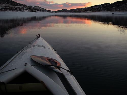 Horsetooth, Snow, Ice and Sea Wind Canoe