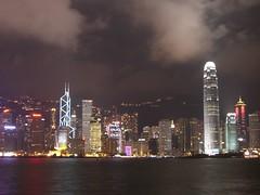 Panoramic View of Hong Kong at night (liangjinjian) Tags: 2005 china summer night hongkong view panoramic exs500 fave casio