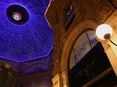 Nata-Mi (Nesos) Tags: christmas xmas lights blu milano luci merrychristmas prada natale galleria auguri buonnatale galleriavittorioemanuele natami