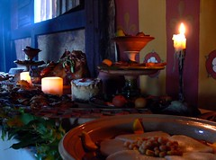 Tudor Christmas c.1560 (flambard) Tags: christmas xmas history festival feast happy cuisine pig advent medieval tudor meal yule marzipan festivities boar boarshead cookery weald downland frangipan