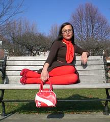 hobo bench (Lorena Cupcake) Tags: urban fashion clothing shoes dress girly style skirt accessories fashionvictim streetstyle brandwhore