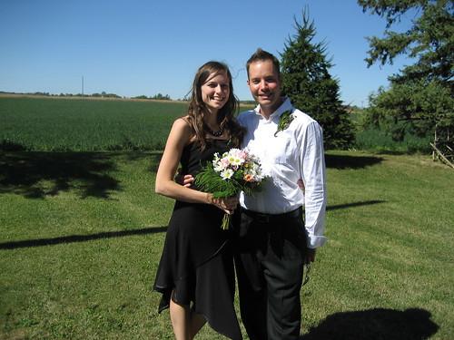 At Daniel and Natasha's wedding